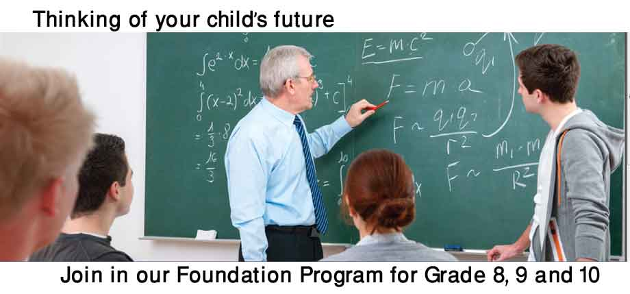 Entrance foundation program for your children
